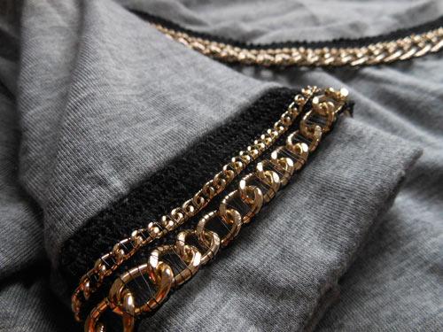 Customizando camiseta com corrente