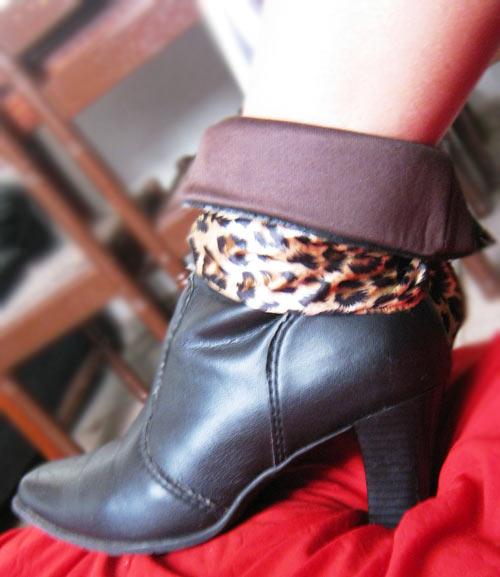 customizando bota com lenço