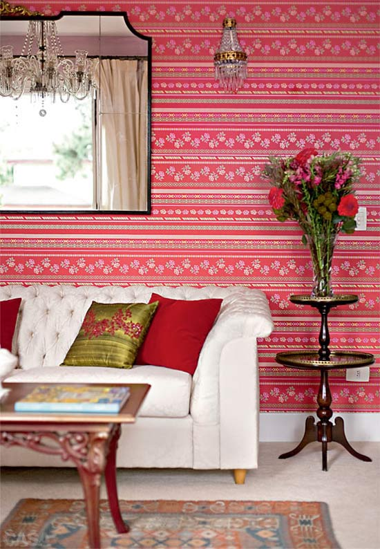 Papel de parede cor de rosa