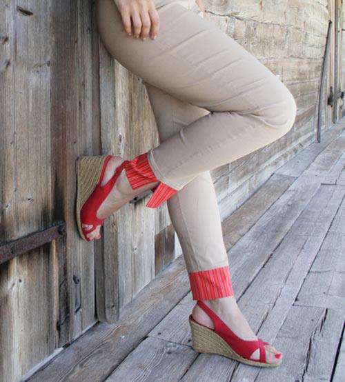 como aumentar comprimento da calça